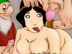 Snowwhite and dwarfs orgy