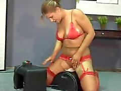 Commando's Sybian Squirts