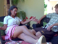 Real taboo - stepmom gets super-naughty with stepson