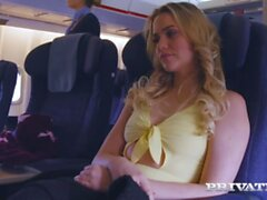 'PRIVATE com Pussy On A Plane! Mia Malkova Takes A Hard Dicking On AirPlane
