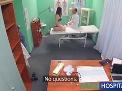 FakeHospital Petite babe takes double cumshot in private hospital