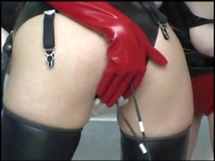 Double dildo panties play
