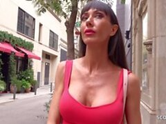 german scout - fit milf sofia pickup and fuck at street casting