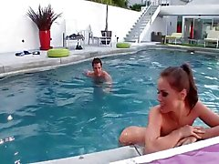 Tori Black wants cock out by the pool