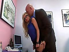 Naughty secretary gets rammed in her office