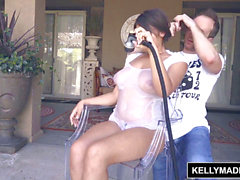 KELLY MADISON Ella Knox Brings Her large Naturals Over