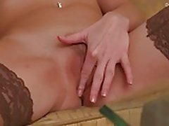 Russian girl Alex Evans will fuck herself hard