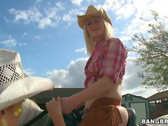 Bootylicious horse riders Rachel Starr and Karen Fisher