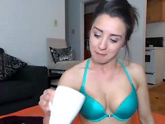 Alektra Blue Striptease and Masturbation