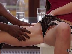 BLACK4K. Unforgettable black on white sex scene happened at the gym