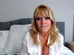 Busty blonde MILF Puma Swede is secretly a webcam girl