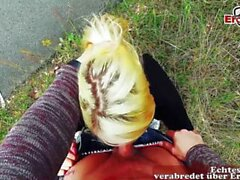 POV Date with german skinny blonde tattoo slut real dating