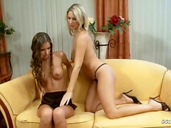 Teen Nessa Devil First Time Lesbian Sex with Hot Young