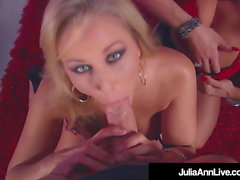 Damn Hot Blow Job With Julia Ann & Jessica Jaymes!