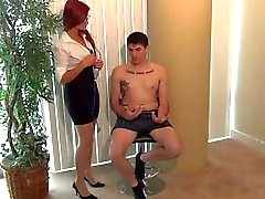 Nurse and Doctor give Nylon Footjob