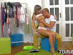 passionate blonde russian sweetie gina get fucked in mouth