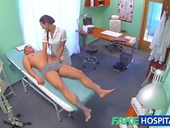 FakeHospital Sexy nurse gets a mouthful of cum in the doctors office