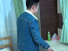 Japanese stud jerks dick