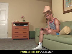 FamilyDick - Beefy daddy fucks his muscle stepson
