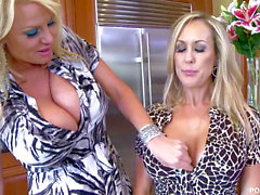 PORNFIDELITY Kelly Madison pulverizes Brandi enjoy With a toy Made of Frozen Cum