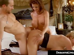 Texas Cougar Deauxma scopa e succhia Kelly Madison & Hubby!