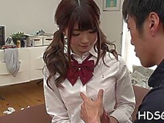 sultry oriental maid maya kawamura blows and fucks