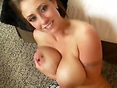 MILF With Big Tits Giving A Blowjob POV