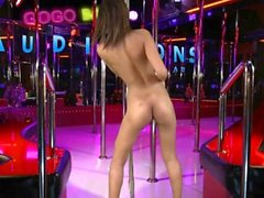 Little teen gogo dancer auditions for job on her knees