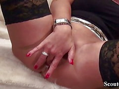 Tedesco matrigna Teach Huge Dick Figlio con First sesso anale