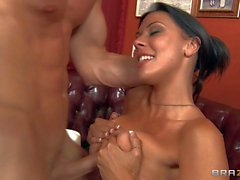 Man fucks the shit out of Busty Rachel Starr
