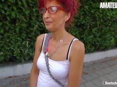 'DeutschlandReport - Sexy German Mature Hardcore Pussy Fuck With Lucky Old Guy - AMATEUREURO'