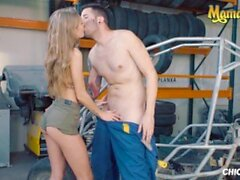 'ChicasLoca - Tiffany Tatum Hot Hungarian Babe Gets Her Tight Pussy Fucked Hard By Horny Car Mechanic'