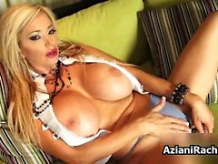 Big tits milf blonde Rachel Aziani toy