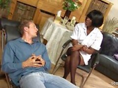 Deep Anal Fuck for Ebony MILF Nurse by Huge Cock Client