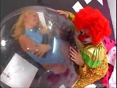 Sick & Twisted Clown gets Blowjob and Fucks Girl inside Bubble