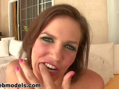 petite brunette bobbi starr sloppy deepthroat blowjob
