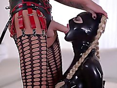 Latex slave punishment. Part-2
