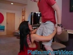 platinumpornvideos - Gorgeous MILF feeds with young's guy sperm