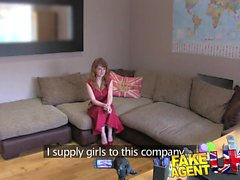 FakeAgentUK Huge facial for librarian on casting couch