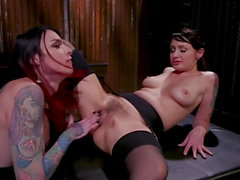 Chelsea Marie Uses Up Her Caged Sex Slave Violet Monroe