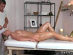Euro milf gets massage and fuck