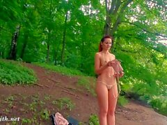 I follow his orders. Jeny Smith nude in public city park