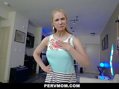PervMom - Stepson Caught Creeping On huge-boobed cougar