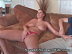 Busty Wife Loves 2 Cocks