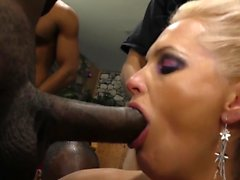 Blonde slut blacked