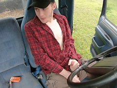 straight redneck teen cums in own mouth!