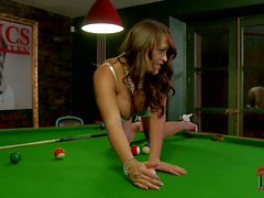 Leanne Crow plays with Her bombs after playing pool
