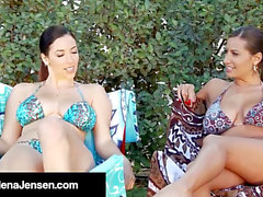 moist sweeties Jelena Jensen & sensual Jane Make Out In Pool!