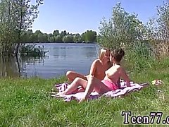 naughty blonde anal hot lesbians having hookup at the lakeside