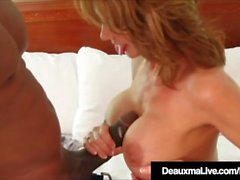 Hot Horny Cougar Deauxma scopa un grosso fan del Black Cock!
